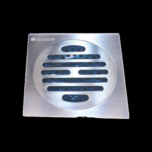 Душевой трап угловой хром 10x10см Ganzer T 002