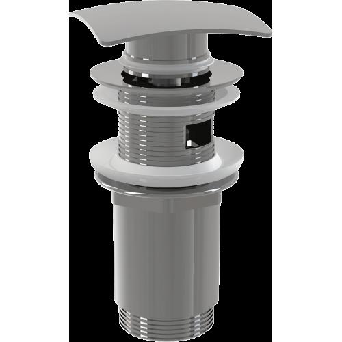"""Донный клапан сифона Alca Plast A393 CLICK/CLACK 5/4"""", цельнометаллический с переливом и квадратной заглушкой"""