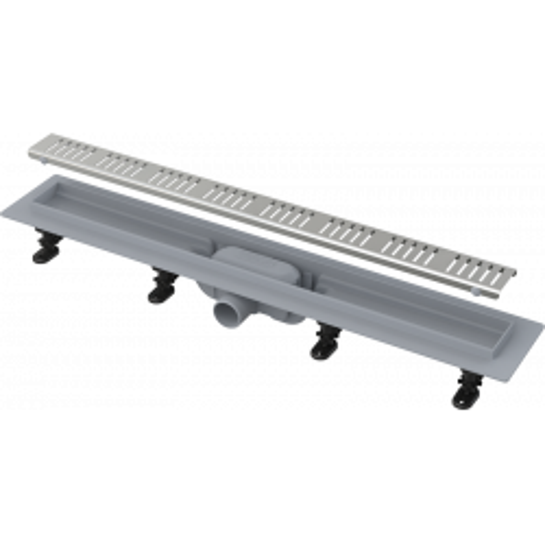 Водоотводящий желоб Alca Plast APZ10 SIMPLE с порогами для перфорированной решетки